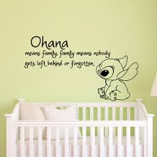 popular baby wall decals buy cheap baby wall decals lots from ohana means family means nobody get left behind or forgotten lilo and stitch wall stickers vinyl