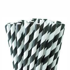 paper straws black paper straws black stripes 25 pack birando
