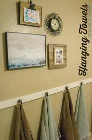 Where To Hang Towels In Small Bathroom Diy Hanging Bathroom Towels A Mom U0027s Take