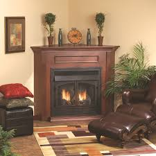 decor captivating corner gas fireplace for home decoration ideas