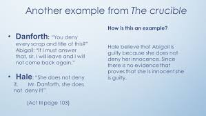 the crucible logical fallacy project ppt download
