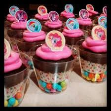 my pony cupcakes my pony cupcakes in a clear cup from dollar tree with