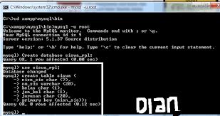 cara membuat database baru mysql cara membuat database mysql di cmd dian amalia
