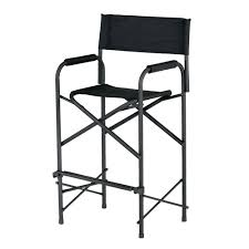 Fold Up Patio Chairs by Amazon Com E Z Up Directors Chair Tall Black Ez Up Chair