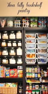my sweet savannah pantry made with ikea bookshelves