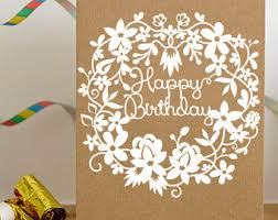 paper cutting template birtgday card birthday template
