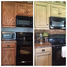 Kitchen Cabinets Before And After Before U0026 After Hand Painted Oak Cabinets In Studio Taupe In