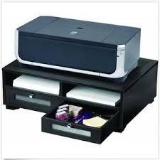 Desktop Filing Cabinet Short Printer Stand Wood With Drawers Desktop File Cabinet Black