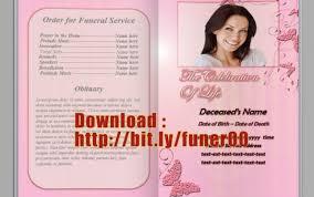 free funeral program template microsoft word