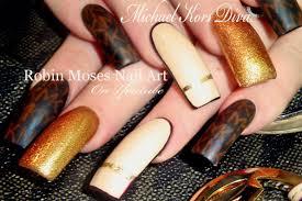 michael kors nails designer nail art diva long nail tutorial