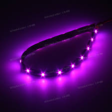 4pcs pink purple led strip lights interior exterior glow neon