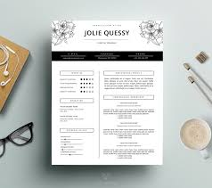 fashion resume templates feminine resume stylish resume template cover letter for ms word