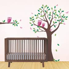 Owl Wall Sticker Tree With Owls And Butterflies