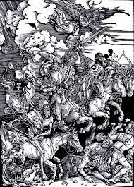 saatchi art the four horsemen of the apocalypse printmaking by