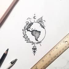 World Map Outline Tattoo by Ella Tiene La Clase De Historia A La Uno Y Cuarenta De La Tarde