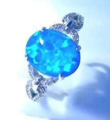 size 9 ring in uk beautiful blue opal cz ring uk size r us size 9 ebay