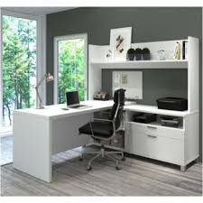 pro linea l desk with open hutch 71w 8807858 officefurniture com