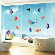 compare prices on fish sharks online shopping buy low price fish finding nemo under sea shark fish 3d cartoon waterproof vinyl wall decals stickers 0174 bathroom wall