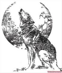 tribal and moon and wolf design viewer com