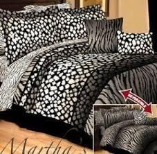 Zebra Bedroom Set Leopard And Zebra Bedding Foter