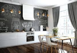 kã hlschrank design tafel kreide kuche wohnungdeko schwarze tafel blumetapfe pflanzen
