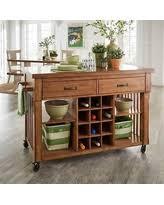 kitchen islands with wine rack wine storage oak kitchen islands carts bhg com shop