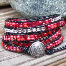red wrap bracelet images Red sorbet town of beadrock jpg