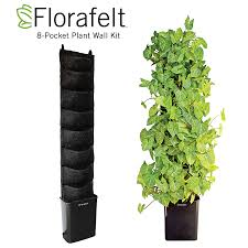Self Watering Vertical Planters Compact Vertical Garden Kit Green Living Plant Wall System