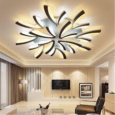 interior home lighting acrylic thick modern led ceiling lights for living room bedroom