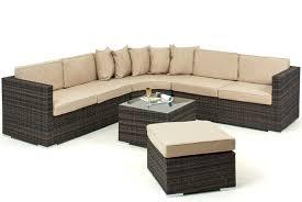 lisbon 6 7 seater rattan corner sofa set