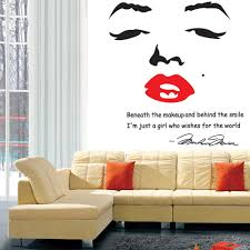 popular wall stick art buy cheap wall stick art lots from china portrait of marilyn monroe diy wall wallpaper stickers art decor mural room decal home decoration wall