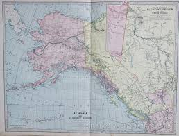 Maps Of Alaska by Map Of Alaska And The Klondike Region 1902