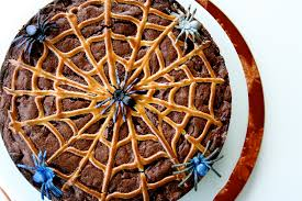 halloween spider web cake spiderweb brownie cake the curvy carrot