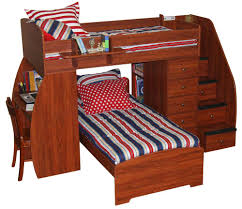 Bunk Bed With Desk Bunk Beds With Desk And Sofa Underneath Full - Plans to build bunk beds with stairs
