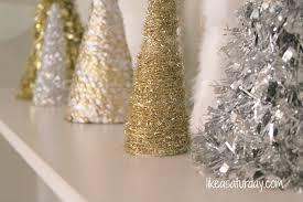 silver tinsel pop up tree lights decoration