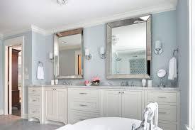 Delightful Silver Floor Mirror With Double Sink Vanity