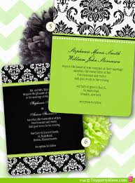 and black wedding invitations ten damask party invitations