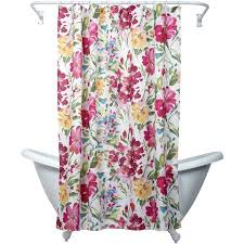 Pink Flower Shower Curtain Zenna Home India Ink Watercolor Floral Shower Curtain Multi