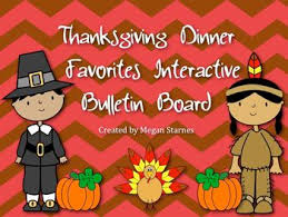 thanksgiving dinner favorites interactive bulletin board by
