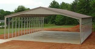 Garage With Carport 32 40 50 And 60 Wide Metal Buildings Large Steel Building