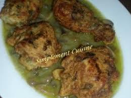 simplement cuisine poulet frit et sa sauce blanche aux chignons délicieux plat pour