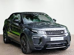 land rover evoque black convertible used land rover range rover evoque convertible for sale motors co uk