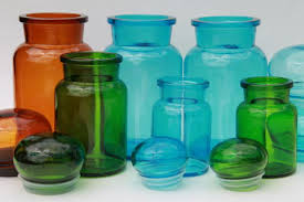 vintage kitchen canister colored glass bottles vintage kitchen canisters airtight seal