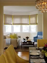 bay window decorating with linen roman shades bay window bay window decorating with linen roman shades in bay window decorating ideas