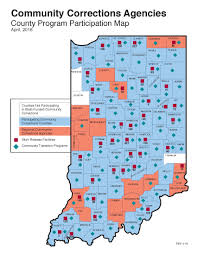 Indiana State Map Indiana Department Of Correction Community Corrections