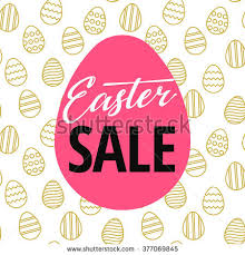 easter egg sale easter sale poster design seamless easter stock vector 377069845