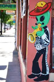 alien mariachi on side of a mexican restaurant in roswell new alien mariachi on side of a mexican restaurant in roswell new mexico