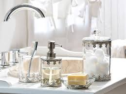 bathroom accessory ideas clear glass and silver bathroom accessories for a feel