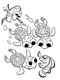 fingding nemo sea turtle coloring download u0026 print