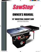Sawstop Industrial Cabinet Saw Sawstop Cb53230 Manuals
